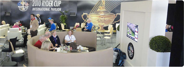 seating in 2010 Ryder Cup International Pavilion